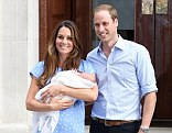 Courageous: The Duchess of Cambridge, pictured with Prince William and their son Prince George, had the perfect birth she was hoping for