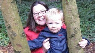 Lisa Frederiksen with her son, Casper