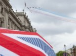 Flying high: Data suggests the UK could be in recovery