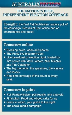 Fairfax Media's election coverage