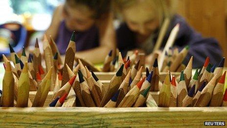 Generic photo of children in a nursery