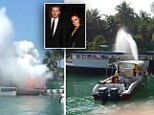 Fireworks in storage for the New Years Eve party at the Reethi Rah One and Only where David Beckham is staying explode at the Resort.  Firefighters used boats to make the fire safe.