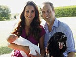 Famous image: Lupo was part of the intimate family portrait with the Duke and Duchess of Cambridge that introduced Prince George to the world