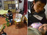 Chinese student Guo Shijun refused to give up on his dream of a university education when his father was paralysed and persuaded the university to let his father stay with him