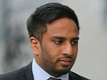 Aravinth Kandasamy (pictured) and Luxmanan Mahendran have been accused of kicking a turban off a Sikh lawyer's head as he was beaten to the ground in a racist attack, a court heard