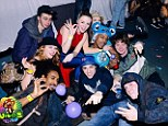 Brazen: Group of teenagers poses with 'hippy crack' in balloons at the party where Daniel Spargo-Mabbs became ill