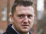 Sentenced: English Defence League founder Tommy Robinson, 31, has been jailed for 18 months for mortgage fraud