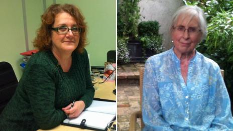 Deborah Gemmill and Pauline Cuthbert