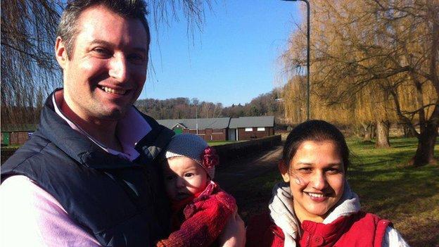 Thomas Martin and his family