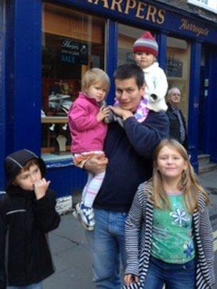 Natalie Gregory's partner and four children