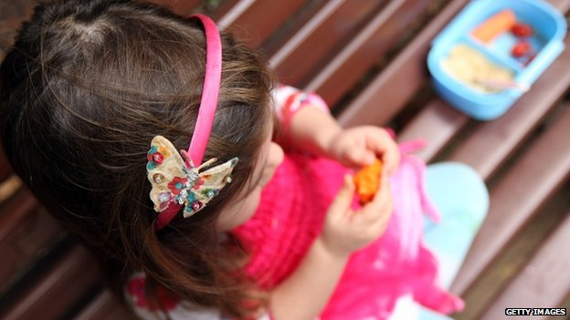 Child eating snacks