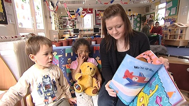 For a family with two youngsters in full-time childcare the average yearly cost is £11,700