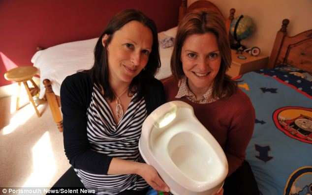 Bright idea: Mothers Kerry Marriott, and Rachael Forder launched their LumiPotti busines from home