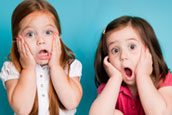 Surprised kids